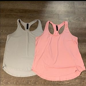 90 Degrees Dry Fit Scalloped Athletic Tanks (2)